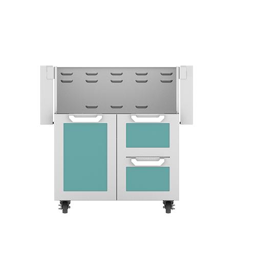 """Hestan - 30"""" Hestan Outdoor Tower Cart with Door/Drawer Combo - GCR Series - Bora-bora"""