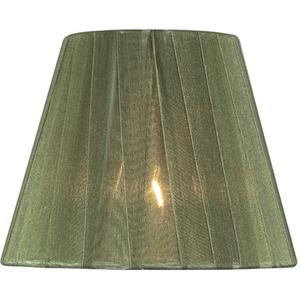 "Candelabra Shade/green Pleated - 3""tx5""bx4""sl"