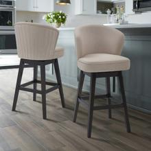"""View Product - Armen Living Brandy 26"""" Counter Height Barstool in Espresso Finish and Tan Fabric"""