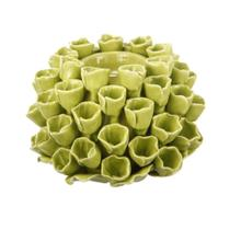 Open Coral Candle Holder Lime