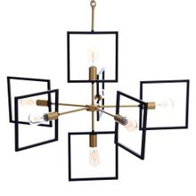 See Details - COMO CHANDELIER  Painted Gold and Black Finished Metal