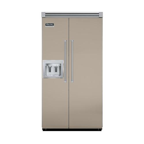 """Viking - Taupe 42"""" Quiet Cool™ Side-by-Side with Dispenser - VISB Tru-Flush™ (42"""" wide)"""