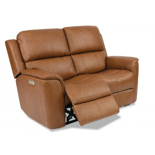 Henry Power Reclining Loveseat with Power Headrests & Lumbar