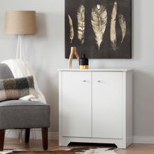 Vito - Small 2-Door Storage Cabinet, Pure White