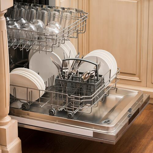 Zline Kitchen and Bath - 24 in. Top Control Dishwasher 120-Volt with Stainless Steel Tub and Modern Style Handle [Color: Unfinished Wood]