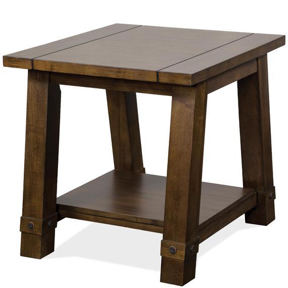 Riverside - Windridge - Angled Leg Side Table - Sagamore Burnished Ash Finish