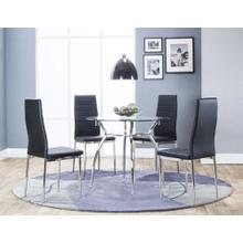 View Product - Delphi 5 Piece Dining Room Set: Table & 4 Black Chairs