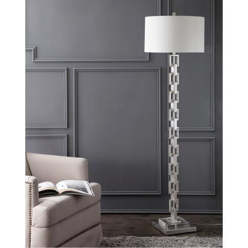 Elodie Metal Ring Floor Lamp - Silver Leaf