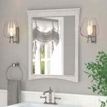 Salinas Bathroom Wall Mounted Bathroom Mirror - Linen White Oak
