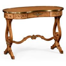 Satinwood kidney dressing table