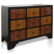 AVERY APOTHOCARY CHEST  36in X 47in X 19in  Multicolored Wooden Apothecary Chest