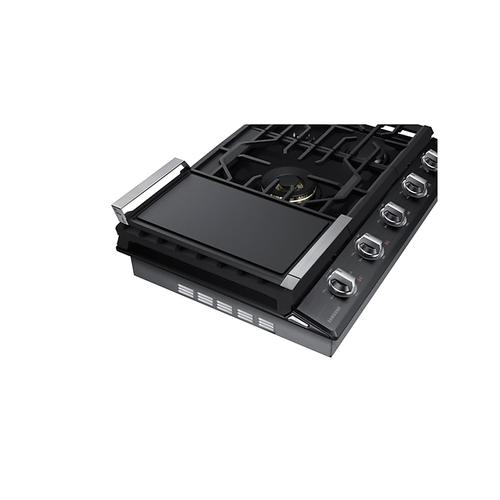 "30"" Smart Gas Cooktop with 22K BTU Dual Power Burner in Black Stainless Steel"