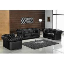 Divani Casa Paris - Transitional Tufted Leather Sofa Set