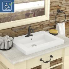 Chloe Rectangular Semi-recessed Vitreous China Bathroom Sink
