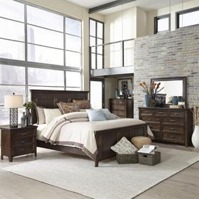 Queen Panel Bed, Dresser & Mirror, Chest, Night Stand