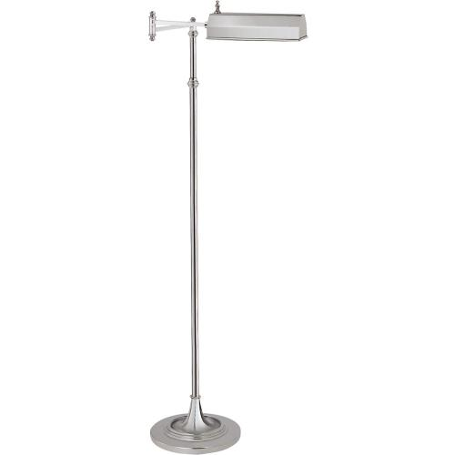 Visual Comfort CHA9107PN E. F. Chapman Dorchester 37 inch 40 watt Polished Nickel Swing-Arm Floor Lamp Portable Light
