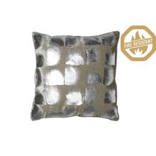 "66804523FR - SHADOW Pillow Silver Metallic+White, Polyester Fill, 20""x20"""