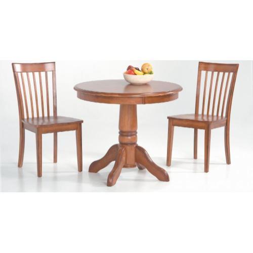 Slatback Side Chair with Wood Seat