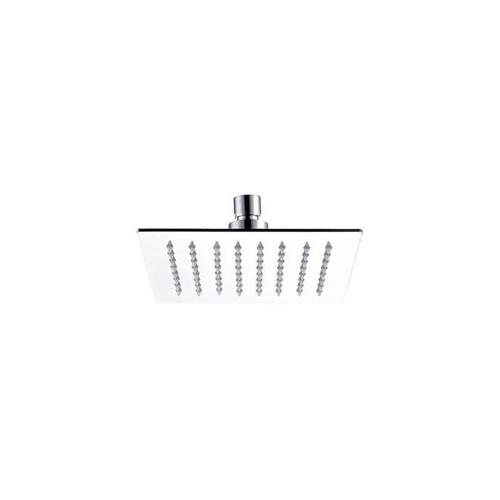 """Mountain Plumbing - 6"""" Square Rain Head with Air-Injected Ball Joint for Shower Head - Matte Black"""