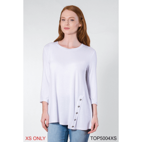 Crew Neck with Buttons Top - XS (2 pc. ppk.)