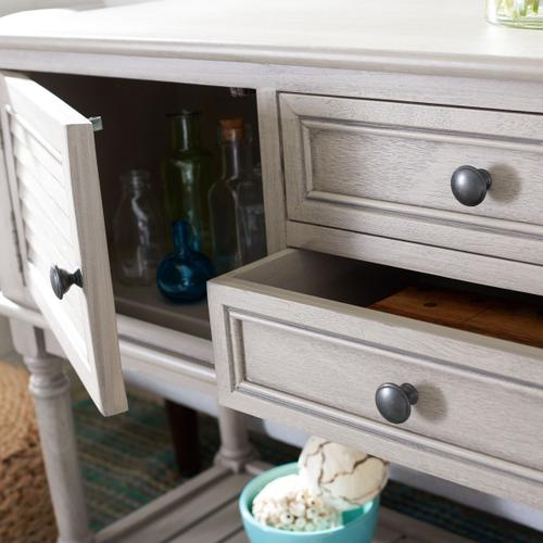 Safavieh - Tate 2 Drawer 2 Door Console Table - Greige