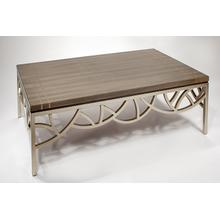 Coffee Table with Glass 53x29.5x18""