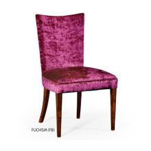 Biedermeier style mahogany dining side chair (Fuchsia)