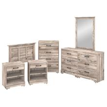River Brook Bedroom 6 Piece Twin Size Bedroom Set - Barnwood