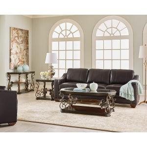 Standard Furniture - Seville Sofa Table, Warm Burnished Bronze Base