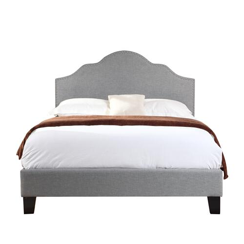 Madison King Upholstered Bed, Light Gray B131-12hbfbr-03