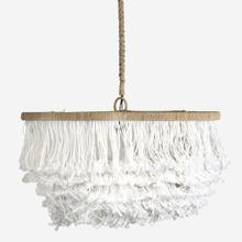 """See Details - 24"""" Lily Tiered Fringe Pendant"""