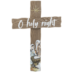 O Holy Night Cross Plaque