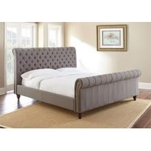 See Details - Swanson King Upholstered Bed - Gray