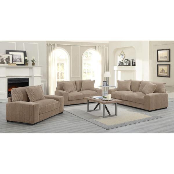 Big Chill Tan Sofa, Loveseat & 1.5 Chair, U2247