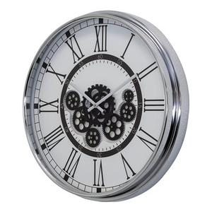Black and White Gear Clock