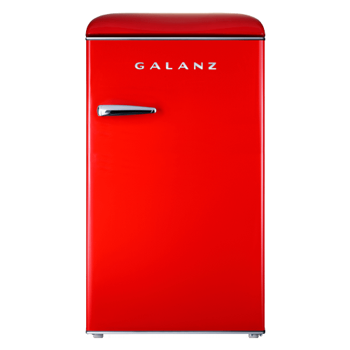Galanz 3.5 Cu Ft Retro Single Door Refrigerator in Hot Rod Red