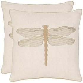 Azure Damselfly Pillow - Creme