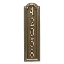 View Product - Personalized Manchester Vertical Wall Plaque - Antique Brass