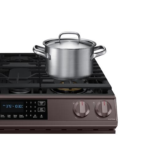 6.0 cu ft. Smart Slide-in Gas Range with Air Fry in Tuscan Stainless Steel