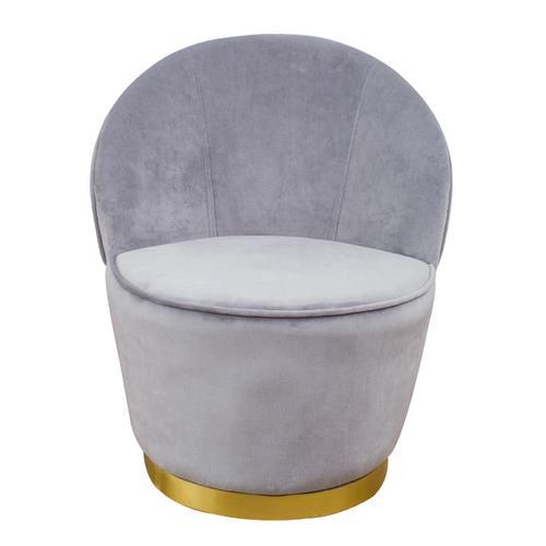 Julia Grey Velvet Junior Chair