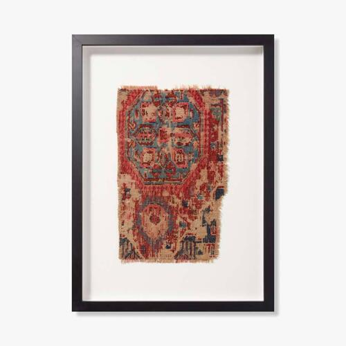 0351760028 Vintage Rug Fragment Wall Art