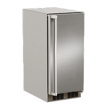 See Details - 15-In Outdoor Built-In Crescent Ice Machine with Door Style - Stainless Steel