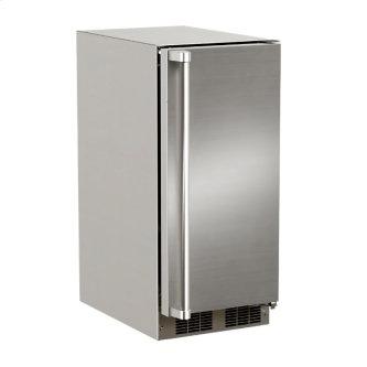 15-In Outdoor Built-In Crescent Ice Machine with Door Style - Stainless Steel