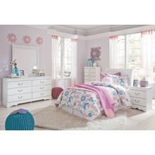 Twin Sleigh Headboard With Mirrored Dresser, Chest and Nightstand