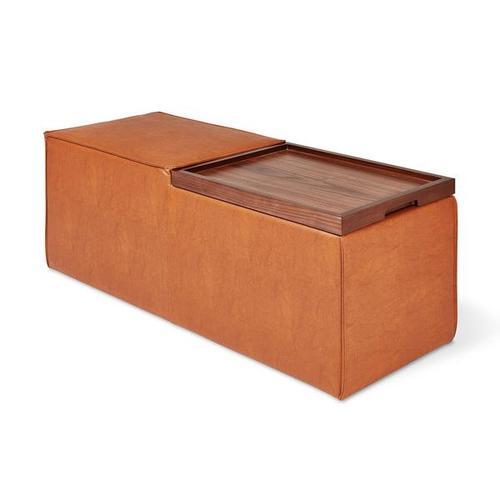 Product Image - Mix Modular Storage Box Vegan Appleskin Leather Cognac / Walnut