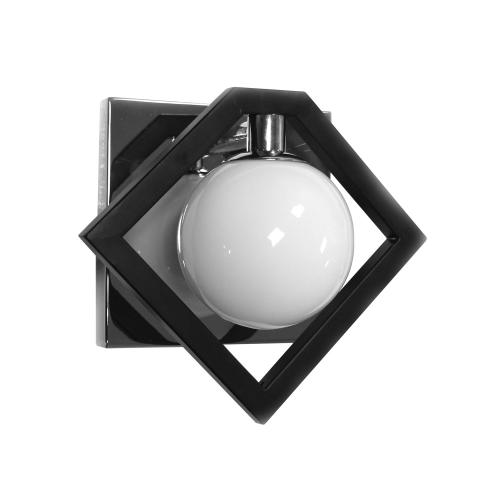 1lt Halgn Wall Sconce Mb & PC W/ Painted Wh Glass