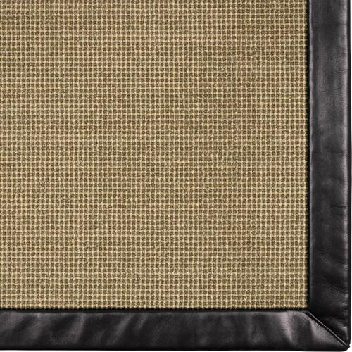 Needlepoint 3 Coffee Bean 5'x8' / Leather Border