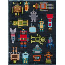 Lil Mo Whimsy Robots Lmj-1 Steel Blue - 2.0 x 3.0