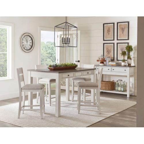 Kyle Light 5-Pack Dining Set, White