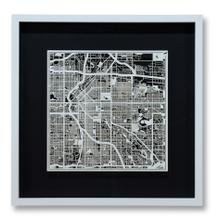 Small Denver Framed Map, Black Mat